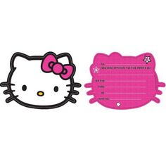 Hello Kitty Invitation Light Pink | Hello kitty and Kitty