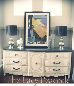 Long Black and Cream French Provincial Dresser / by TheLacyPeacock