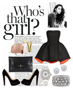 """Who's That Girl?"" by poetrydesigns11 on Polyvore featuring Parlor, Christian Louboutin, Rolex, Mark Broumand, Kobelli, Vivienne Westwood and Michael Kors"