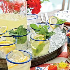 Refreshingly fizzy, these lemon-mint sparklers are sure to be a summertime favorite.
