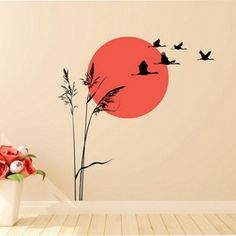 Simple Wall Paintings, Home Wall Painting, Small Canvas Paintings, Bedroom Wall Designs, Wall Art Designs, Paint Designs, Art Mural, Wall Murals, Asian Paint Design