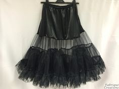 "Retro 50s Style Rockabilly Dress Petticoat / Underskirt - Black - Plus Sizes (XL - XXL) - 26"" Long by FabriqueCreations on Etsy"
