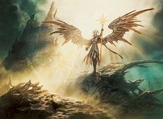 MTG - Sunblast Angel Illus. Jason Chan