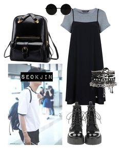 """""""Seokjin Inspired Outfti #6"""" by flaviaazevedo2000 ❤ liked on Polyvore featuring Miss Selfridge, ASOS, kpop, bts and bias"""