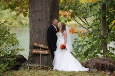 Gorgeous fall scene at The Little Log Wedding Chapel in Niagara. Perfect for 2-18 people elopements.Intimate and cozy