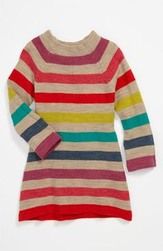 United Colors of Benetton Kids Stripe Knit Dress (Toddler) available at #Nordstrom