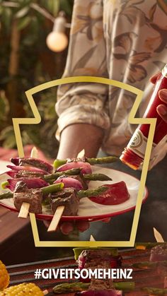 Treat your tastebuds this week with Heinz Tomato Ketchup to accompany marinated Steak Skewers. #GiveItSomeHeinz Heinz Recipe, Recipe Hub, Steak Skewers, Steak Cuts, Asparagus Spears, Marinated Steak, Stuffed Mushrooms, Stuffed Peppers, Sirloin Steaks