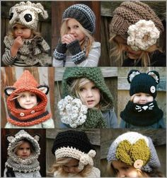 The Cutest Christmas Crochet Gift Set for Girls - Knitting Pattern Knitting Ideas Knit 2020 Knitting Trend Diy Crochet Patterns, Crochet Cowl Free Pattern, Crochet Crafts, Knitting Patterns, Cowl Patterns, Knitting Ideas, Diy Crafts, Crochet Ideas, Sweater Patterns