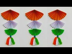 How to make Tri colour wall hanging/ Republic Day special craft Ideas Independence Day Decoration, Indian Independence Day, Class Decoration, School Decorations, Paper Decorations, Preschool Crafts, Fun Crafts, Paper Crafts, National Festival