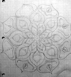 Mandala Sketch, Mandala Drawing, Mandala Tattoo, Mandala Dots, Mandala Pattern, Mandala Design, Mandala Painting, Painting & Drawing, Doodle Drawings