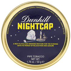 Dunhill Nightcap 50g tin. I've tried this one. It packs a punch, but it's good.