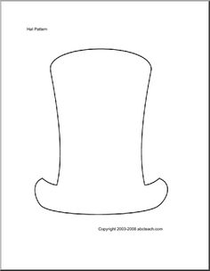 Dr. Seuss' Hat. Use for poems, stories, or a list of Dr. Seuss books read.  #education #reading month