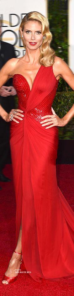 Heidi Klum at the Golden Globes 2015 ♔THD♔