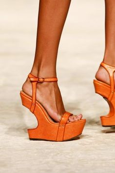 More Ermanno Scervino Spring 2013 RTW wedges #mfw #shoeporn ~