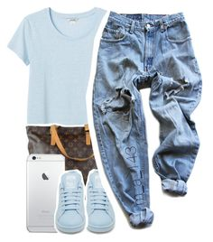5 - 1 - 15 | by mindlesslyamazing-143 on Polyvore featuring polyvore, fashion, style, Monki, Levi's, adidas and Louis Vuitton