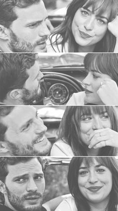 "Jamie Dornan and Dakota Johnson Fifty shades of grey ""We've chased the dawn, now the dusk. """