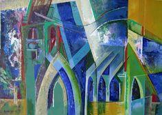 Friesland / a little church in my style by Ellen van Randeraat Abstract Art, Van, Colour, My Style, Artwork, Painting, Color, Work Of Art, Auguste Rodin Artwork
