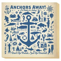 Small Anchors Away Canvas Art