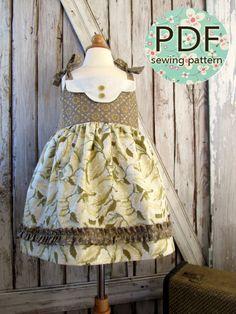 Adele - Twirl Vintage Style Dress Pattern. Girl's Sewing Pattern. Toddler Dress Pattern. PDF Pattern Sizes 1-8. $7.95, via Etsy.