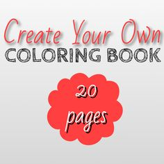 Create Your Own Coloring Book, Choose ANY 20 Printable Adult Coloring Pages, DIY Downloadable Digital Coloring Book, Customize Make Your Own by CristinApril on Etsy