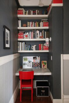 Andi & Dean's Modern Meets Victorian - Office corner - office cubbie