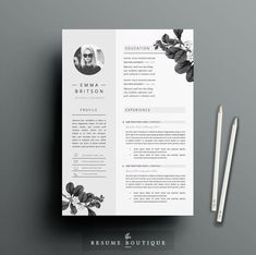 Resume Template 4page | CV Template + Cover Letter + References for MS Word… Cv Curriculum, Curriculum Design, Design Brochure, Design Resume, Resume Cv, Indesign Templates, Template Cv, Cv Templates Word, Resume Template Download