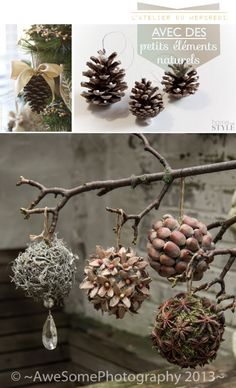 Cheap and Easy Christmas Decorations for Living Room - Pine Cone Ornaments Woodland Christmas, Noel Christmas, Rustic Christmas, Handmade Christmas, Christmas Wreaths, Christmas Ornaments, Diy Ornaments, Christmas Ideas, Winter Christmas