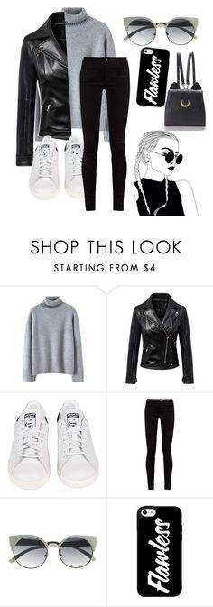 """""""black&gray"""" by buflie ❤ liked on Polyvore featuring adidas, Gucci and WithChic"""