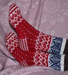 Jorids Julehjerte sokker, gratis mønster