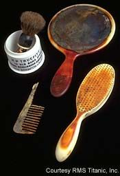 Toiletries recovered from the Titanic.,http://www.titanicuniverse.com/titanic-artifacts/titanic-artifacts-9-2