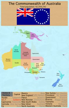 map of australia if all proposed states existed