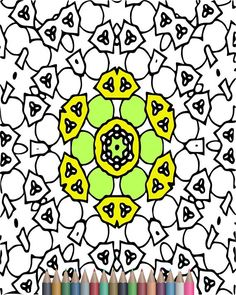 Adult Coloring Pages Kaleidoscope Pattern Designs Printable For Adults Art Therapy Instant Download