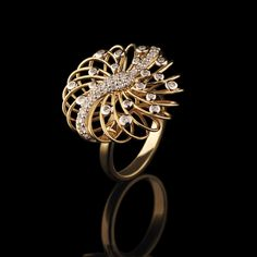 Ring | Garden of Edenly Designs.  18k yellow gold and diamonds.