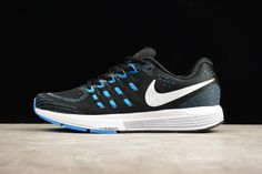 8f5396f8a0806 Nike Air Zoom Vomero 11 Black White Photo Blue Racer Blue Mens Running Shoes  818099 014