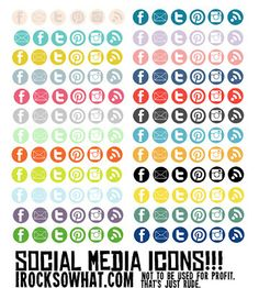 B.You: Blog Design: 25 Free Social Media Icon Sets