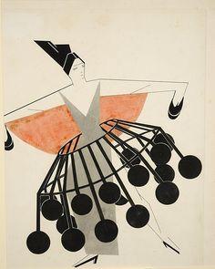Alexandra Exter (born in Białystok) - sketch (Lobanov-Rostovsky coll.), 1924
