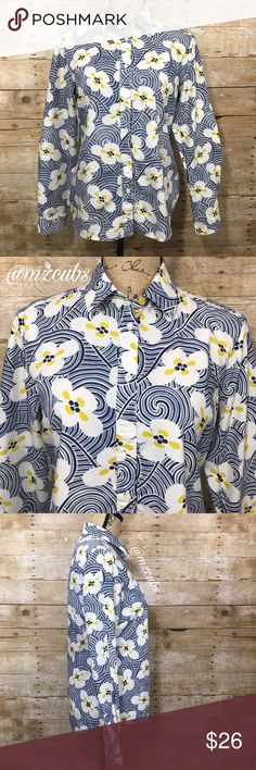 "☀️ Boden Mixed Print Blouse VGUC. You'll get the best of both worlds with the geometric and floral print Boden blouse. Yellow and white buttons. Machine washed cold, gentle and hung to dry. 100% cotton. Armpit to armpit approximately 18"" laying flat. Shoulder to hem approximately 24 1/2"" to 26 1/2"". Sleeve approximately 23"". Reasonable offers welcome! Boden Tops Blouses"