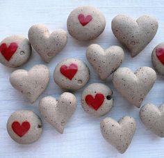 Ceramic Heart Pebble