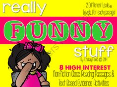 Close Reading & Text Based Evidence - Really FUNNY Stuff from PrimaryPolkaDots on TeachersNotebook.com -  (48 pages)  - Close Reading & Text Based Evidence - Really FUNNY Stuff