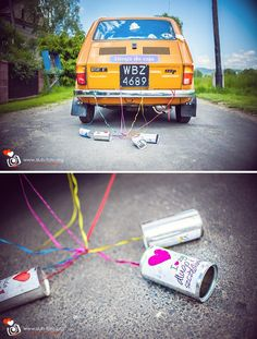 Wedding car fiat 126 p
