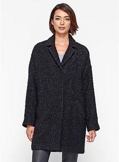 eileen fisher coat - so ME!!! NOTCH COLLAR BOXY COAT IN CURLY ALPACA
