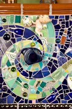Mosaic Diy, Mosaic Tiles, Mosaics, Mosaic Fireplace, China Wall, Mosaic Projects, Silver Lake, Fireplace Surrounds, Silent Film