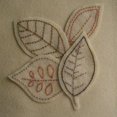 Fall Hand Embroidery Pattern / Fall Leaves / Autumn Embroidery Pattern / Thanksgiving