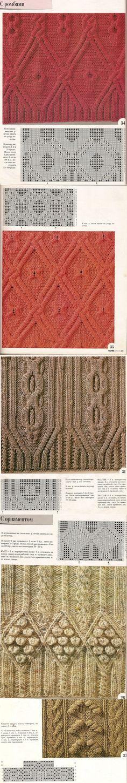Узоры с косами схемы вязания