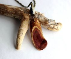 Wooden  Pendant Reclaimed Wood Necklace Eco Friendly by Hendywood $22