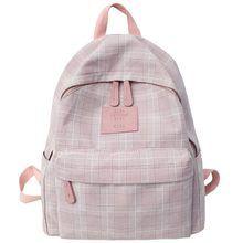 DCIMOR de moda a cuadros para mujer, mochila de estudiante