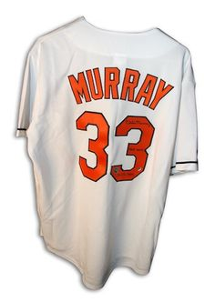 54fb0464b0a Autographed Eddie Murray Baltimore Orioles White Majestic Jersey Gameday  Sports