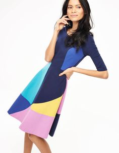 Alice Ponte Dress WH893 Day Dresses at Boden