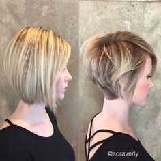 Balayage Short Haircut with Straight Hair - Trendy Short Hair Cuts for Women