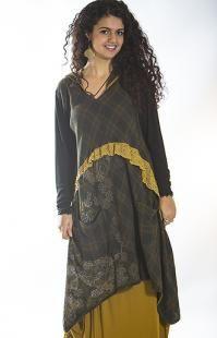 Plaid Ruffle Hoodie Dress Printed - Lacette